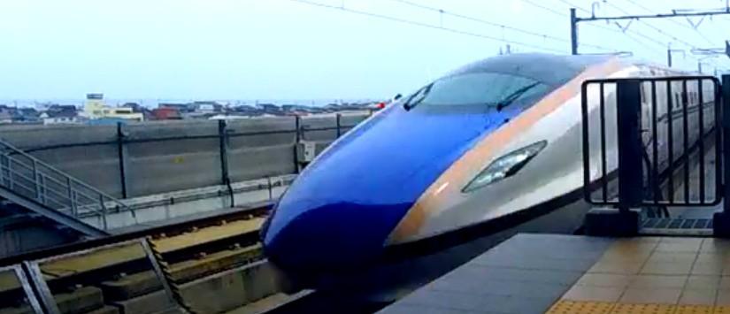 北陸新幹線260km同士すれ違いの瞬間
