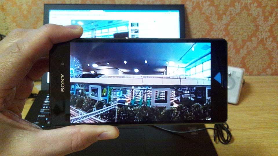 360度動画をYouTubeアプリで(正面)