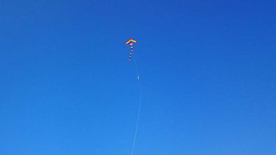 凧とTHETA