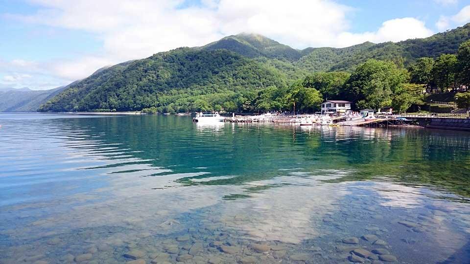 支笏湖。透明度日本3位