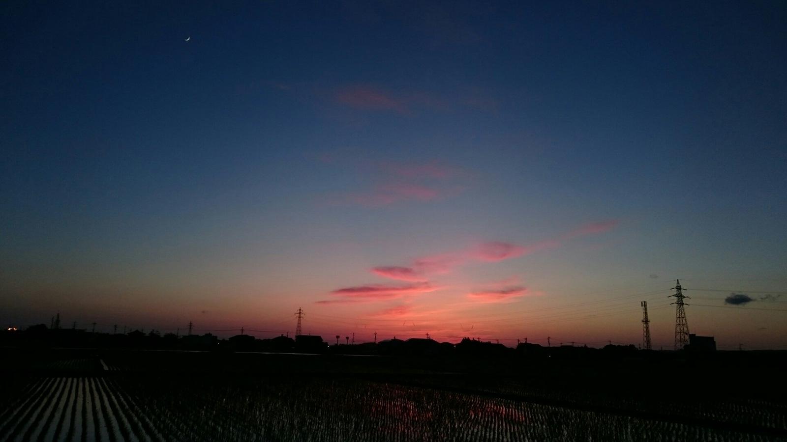 太陽と月の交代