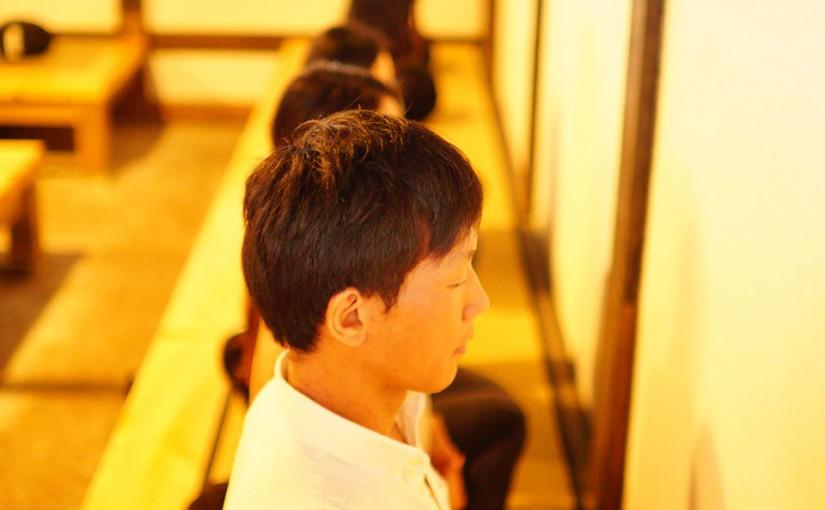 永光寺で座禅