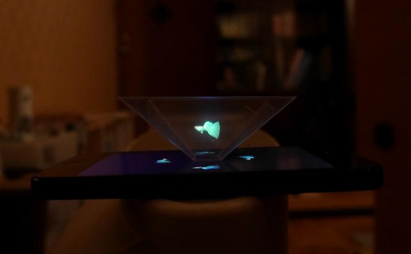 ホログラムを自作して遊んでみました。